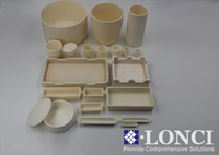 High Purity and Good Thermal Shock Resistance Alumina Ceramic Sagger and Crucible